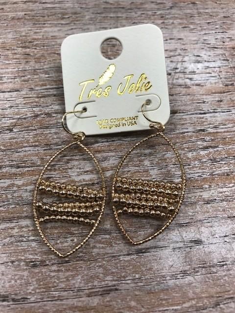 Jewelry Gold Beaded Earrings