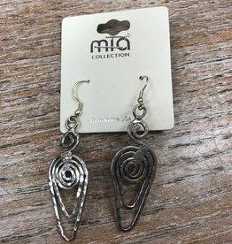 Jewelry Hammered Metal Earrings