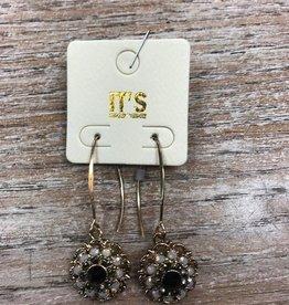 Jewelry Beaded Flower Dangle Earrings