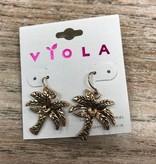 Jewelry Gold Palm Tree Earrings
