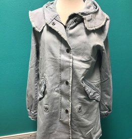 Jacket Light Blue Denim Jacket w/ Hood