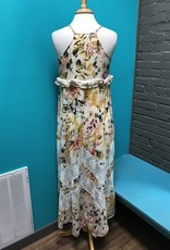 Dress Floral Maxi w/ Lace Ruffle/Detail