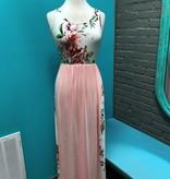 Dress Rose Print Maxi