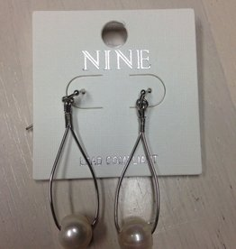 Jewelry Pearl Silver Dangle Earrings