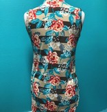 Tank Sleeveless Floral Stripe Top