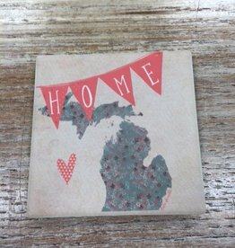 Decor MI Home Banner Coaster
