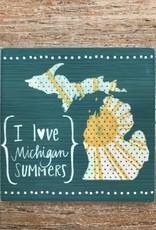 Kitchen I Love Michigan Summers Coaster