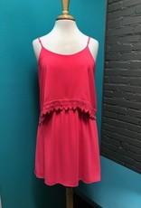 Dress Fuchsia Dress w/ Crochet Trim