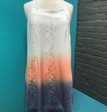 Dress Peach Dip Dye Crochet Dress