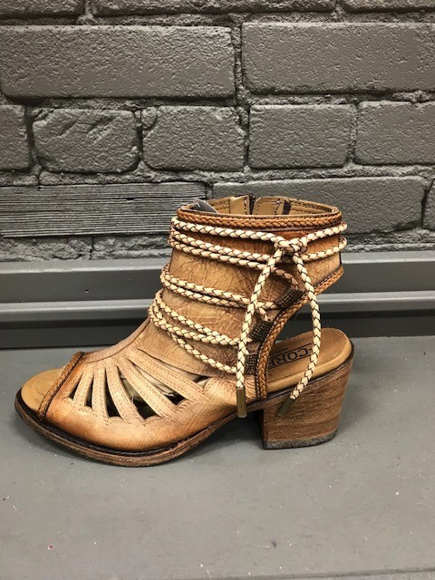 Shoes Bone Lace Tall Top Sandal