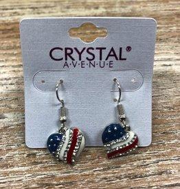 Jewelry American Heart Dangle Earrings