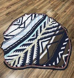 Towel Round Aztec Sheer Beach Towel/ Shawl