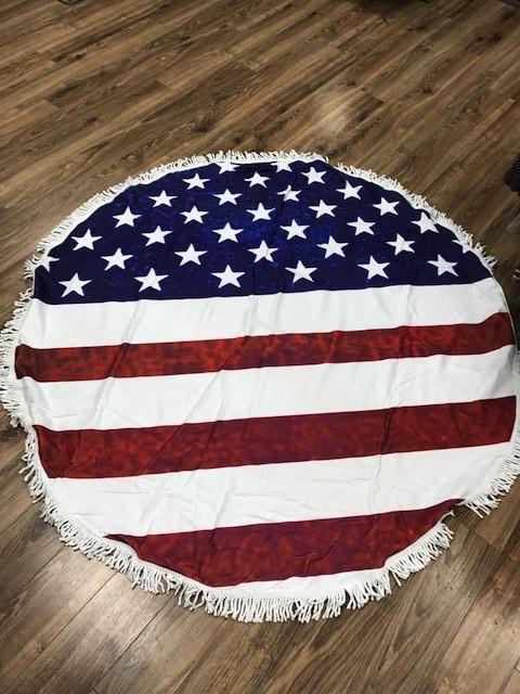 Towel Round American Flag Beach Towel