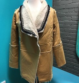 Jacket Camel Fleece Sherling Jacket