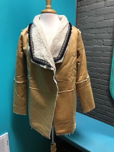 Jacket Camel Fleece Sherling Jacket