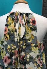 Dress Grey Floral Maxi Dress