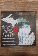 Decor Go With All Your Heart Sign