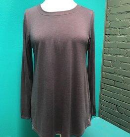 Long Sleeve Purple LS w/ Print Shirttail