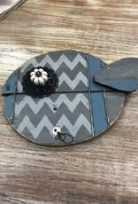 Decor Blue/Gray Doorknob Fish