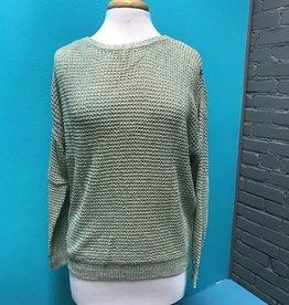 Sweater Light Mint Sweater w/ Detail Back