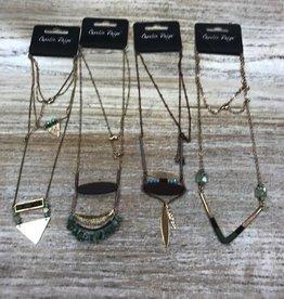 Jewelry Brass/Crystal Necklace