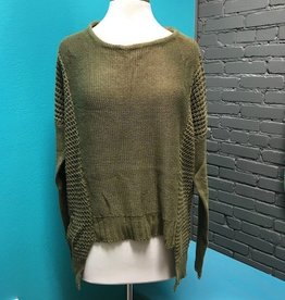 Sweater Olive Knit Sweater