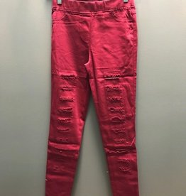 Leggings High Waisted Distressed Jeggings