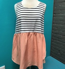 Tank Blush/Navy Stripe Tank