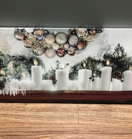 Decor Candles on Mantel LED Sign