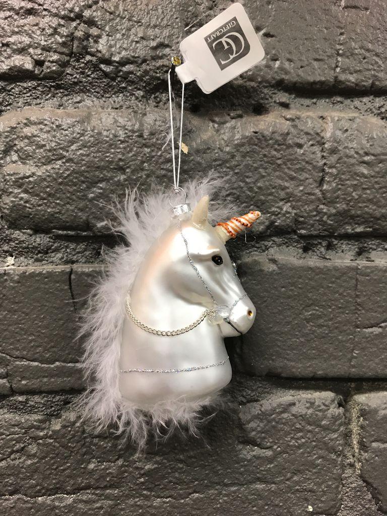 Ornament Glass Horse Head Ornament