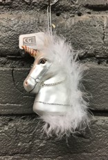 Ornament Glass Horse Head Ornament