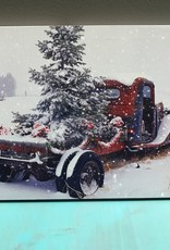 Decor Happy Holidays LED Farm Truck Sign