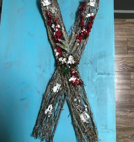 Decor Stick/Holly Ski Decor