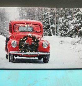 Decor LED Christmas Truck w/ Wreath Sign