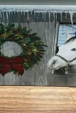 Decor Horse w/ Wreath LED Sign