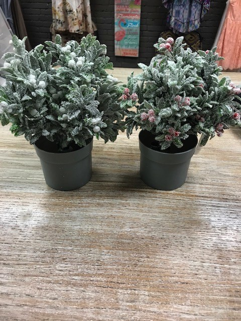 Decor Potted LED Holly Plant