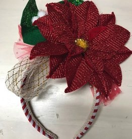 HeadBand Poinsettia Headband