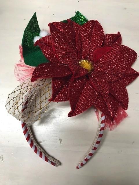 HeadBand Poinsettia Headband