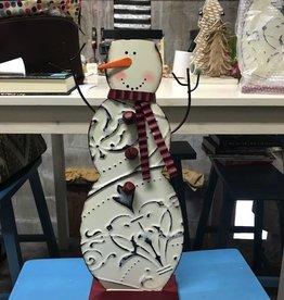 Decor Ceiling Tin Snowman Figure