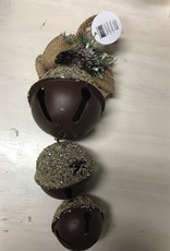 Ornament Sand Finish Jingle Bell Ornament