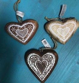 Ornament Wood Heart Ornaments