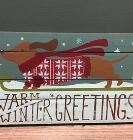 Decor Winter Greetings Wall Art 22.5x13.5