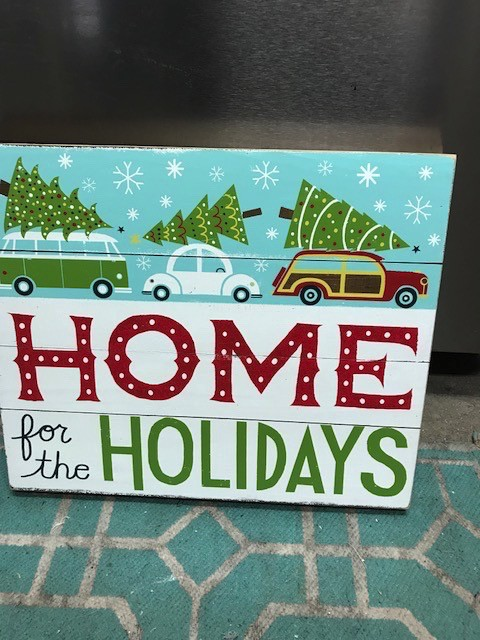 Home For The Holidays Wall Art 18x15