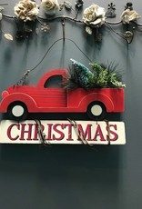 Decor Red Truck Christmas Wall Art
