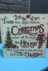 "Decor Night Before Christmas Wall Art 12"" Sq"