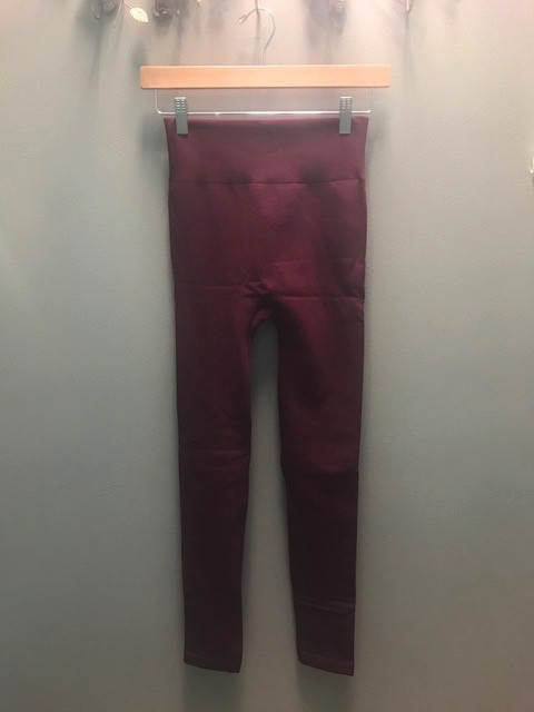 Leggings Color Fleece Lined Leggings