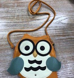 Purse Orange Owl Crossbody