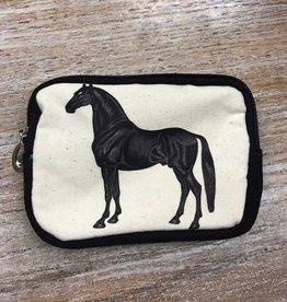 Wallet Vintage Horse Zip Wristlet