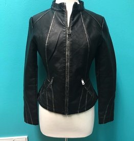 Jacket Black Jacket w/ Silver Line Accents