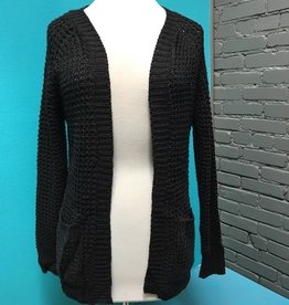 Cardigan Brown/Black Open Knit Cardi